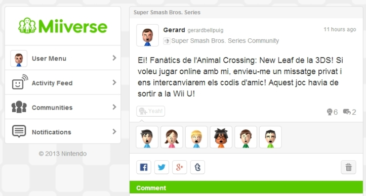 Miiverse 200 characters