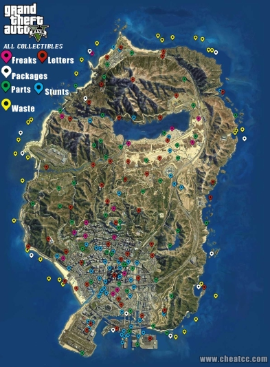 gta 5 collectibles map