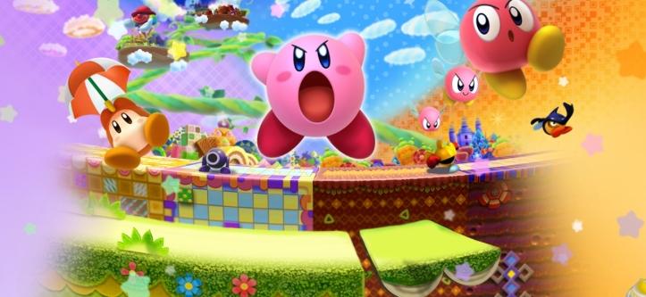 Kirby Triple Deluxe 3DS artwork