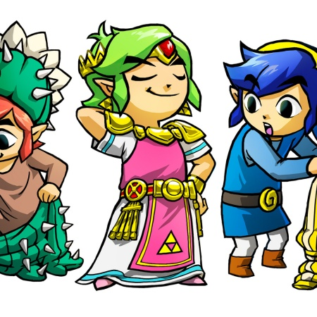 the legend of zelda tri force heroes art