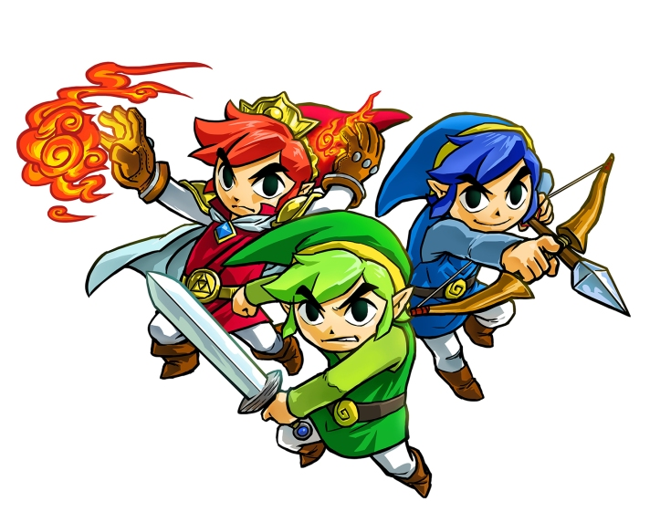 the legend of zelda triforce heroes links
