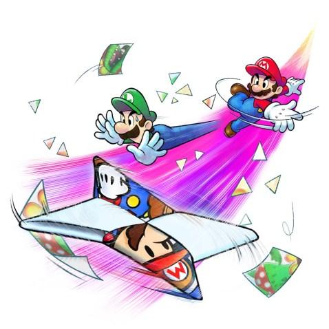 Mario & Luigi Paper Jam Bros art 01
