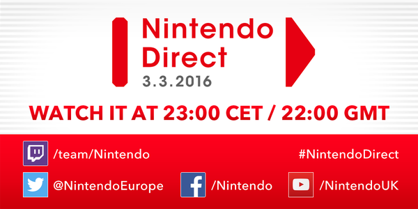 nintendo direct març 2016