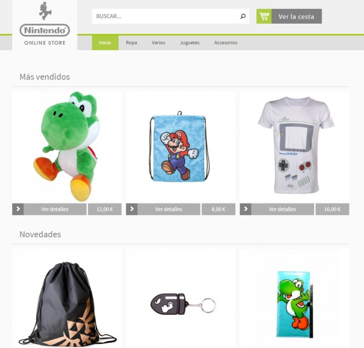Nintendo Online Store Europa